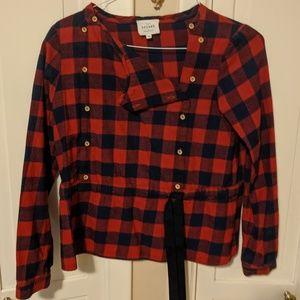 Sezane flannel plaid shirt.  Size 38